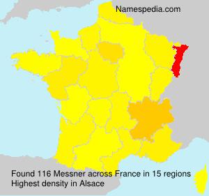 Familiennamen Messner - France