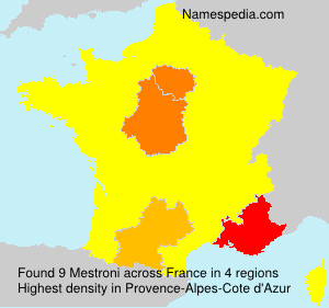 Surname Mestroni in France