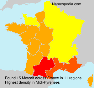Surname Metcalf in France