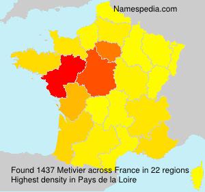 Familiennamen Metivier - France