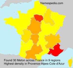 Surname Meton in France
