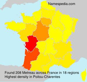 Surname Metreau in France