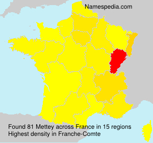 Surname Mettey in France