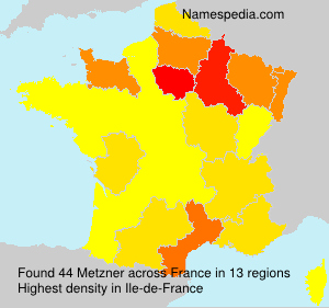 Surname Metzner in France