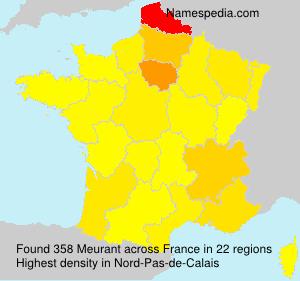 Surname Meurant in France