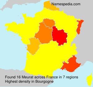 Surname Meurat in France