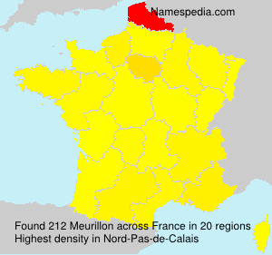 Surname Meurillon in France