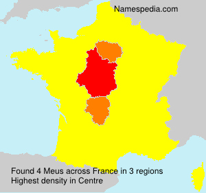 Surname Meus in France