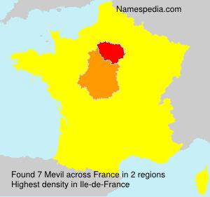 Surname Mevil in France