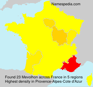 Surname Mevolhon in France