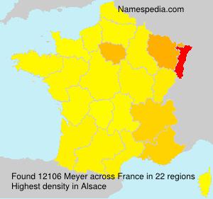 Surname Meyer in France