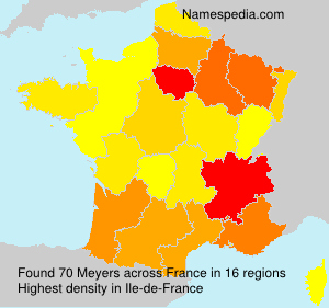 Surname Meyers in France