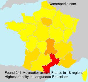 Familiennamen Meynadier - France