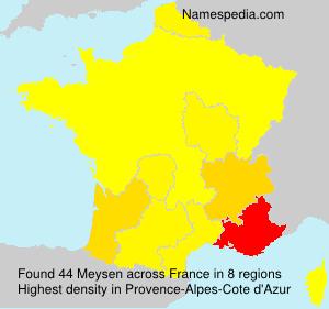 Familiennamen Meysen - France