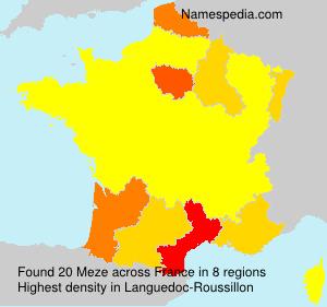 Surname Meze in France