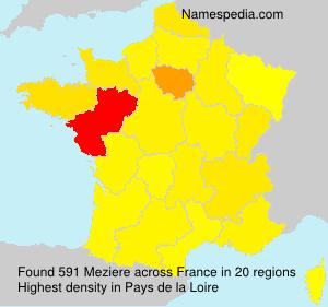Familiennamen Meziere - France