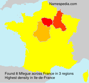 Surname Mfegue in France