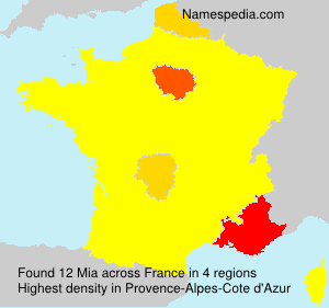 Surname Mia in France