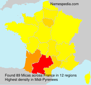 Surname Micas in France