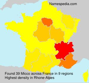 Familiennamen Micco - France