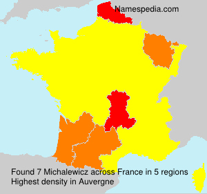 Surname Michalewicz in France