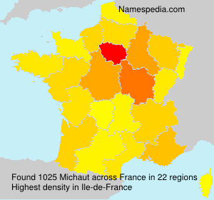 Surname Michaut in France