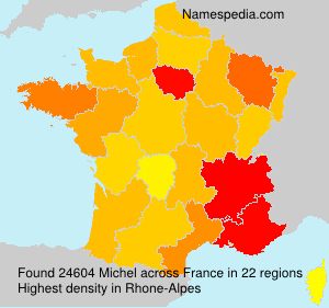 Surname Michel in France