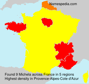 Surname Michela in France