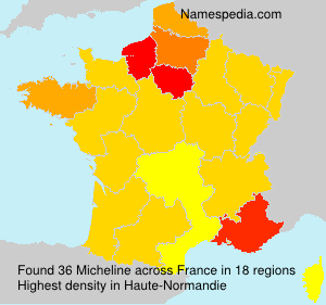 Familiennamen Micheline - France