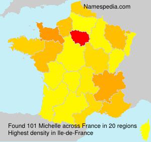 Familiennamen Michelle - France