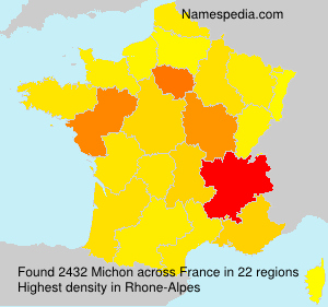 Surname Michon in France