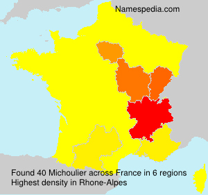 Surname Michoulier in France