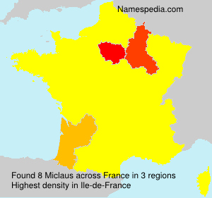 Surname Miclaus in France