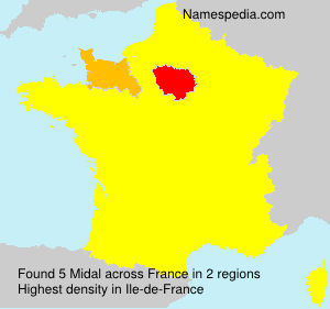 Surname Midal in France