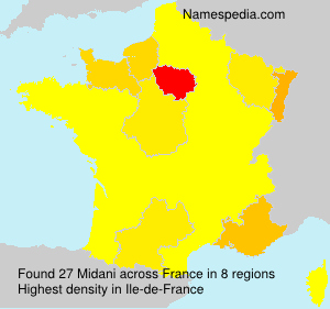 Surname Midani in France