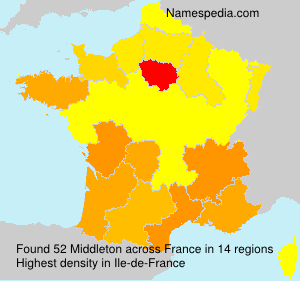 Surname Middleton in France