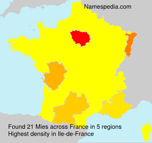 Surname Mies in France