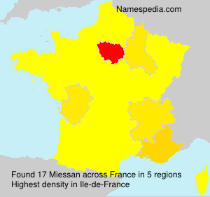 Surname Miessan in France