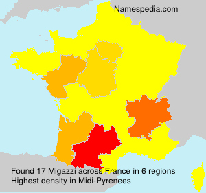 Surname Migazzi in France