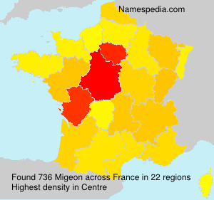 Surname Migeon in France