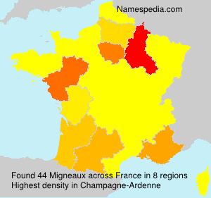 Surname Migneaux in France