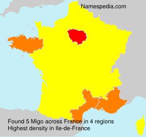 Familiennamen Migo - France