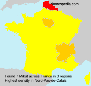 Surname Mikut in France