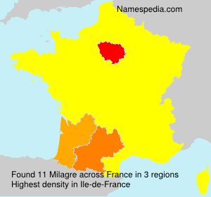 Surname Milagre in France
