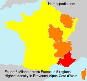 Familiennamen Milana - France