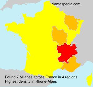 Familiennamen Milanes - France