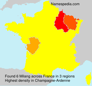 Surname Milang in France