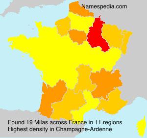 Surname Milas in France