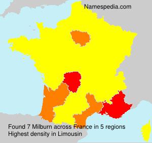Familiennamen Milburn - France