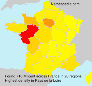 Surname Milcent in France